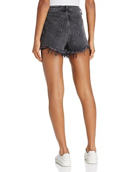 alexanderwang.t - Bite Cut-Off Shorts in Grey Aged