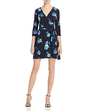 Leota Floral Print Faux Wrap Dress