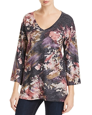 Nally & Millie Abstract Floral Print Tunic