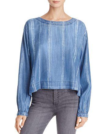 Bella Dahl - Stripe-Pattern Back Button-Up Shirt