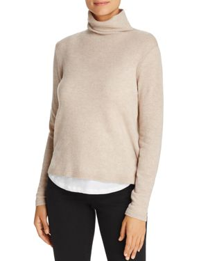 Majestic Filatures Shirttail Turtleneck Sweater