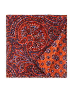 The Men's Store at Bloomingdale's Large Paisley Wool Pocket Square - 100% Exclusive
