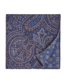The Men's Store at Bloomingdale's Large Paisley Wool Pocket Square - 100% Exclusive_0