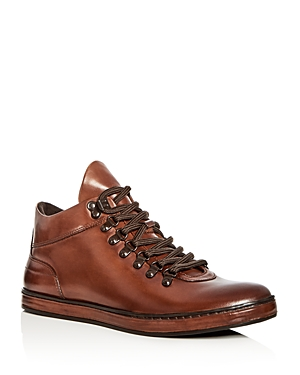 Kenneth Cole Men's Brandtour Leather Mid Top Sneakers