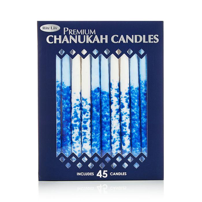 Rite Lite - Premium Chanukah Candles, Blue and White