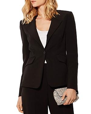 Karen Millen Flared-Sleeve Single-Button Blazer