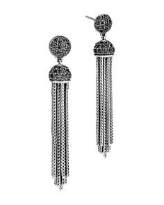 John Hardy Sterling Silver Classic Chain Tassel Earrings with Black Sapphire & Black Spinel - Bloomingdale's_0