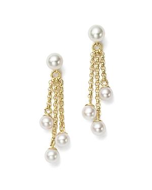 Bloomingdale's Cultured Freshwater Pearl Chain Tassel Earrings in 14K Yellow Gold, 4-6mm - 100% Exclusive