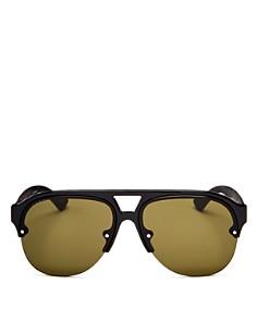 Gucci - Men's Urban Mirrored Semi Rimless Aviator Sunglasses, 59mm