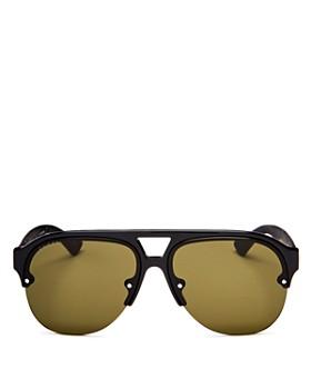 933c76c4e6 Gucci - Men s Urban Mirrored Semi Rimless Aviator Sunglasses