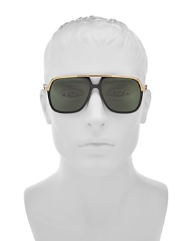 Gucci - Men's Vintage Web Brow Bar Aviator Sunglasses, 56mm