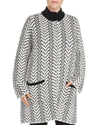 Foxcroft Plus - Nola Chevron Sweater Coat