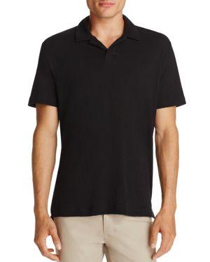 Theory Open Collar Short Sleeve Polo Shirt