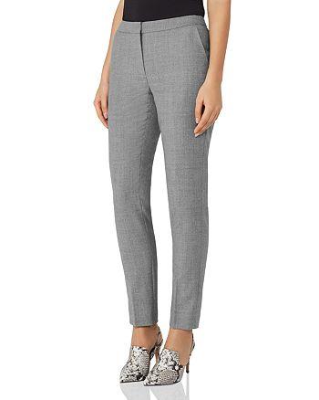 REISS - Austin Slim Cropped Wool Pants