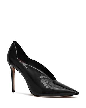 Reiss Women's Jill Patent Leather High Heel Court Pumps