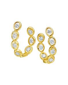 Gumuchian - 18K Yellow Gold Oasis Diamond Curve Earrings