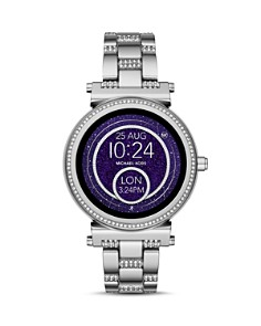 Michael Kors - Sofie Stainless Steel Pavé Touchscreen Smartwatch, 42mm