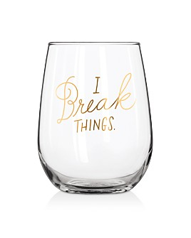 Easy Tiger - Break Things Stemless Wine Glass