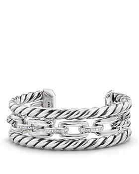 David Yurman - Wellesley Three-Row Cuff with Diamonds