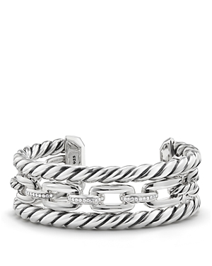 David Yurman Wellesley Three-Row Cuff with Diamonds