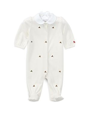 Ralph Lauren Childrenswear Girls' Embroidered-Roses Footie - Baby