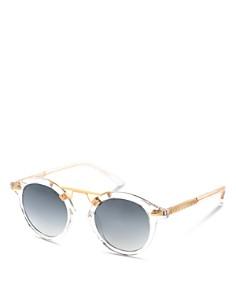 Krewe - Women's St. Louis 24K Mirrored Round Sunglasses, 46mm