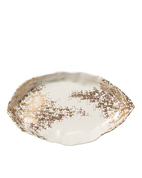 VIETRI - Scattered Gold Matte Oval Platter