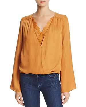 Do and Be Lace-Trim Crossover Top