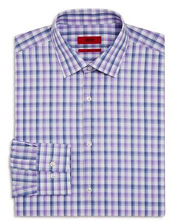 HUGO - Mabel Large Check Regular Fit Dress Shirt