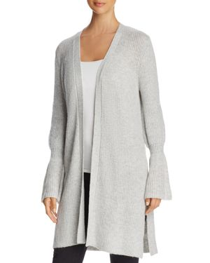Marled Bell-Sleeve Duster Cardigan