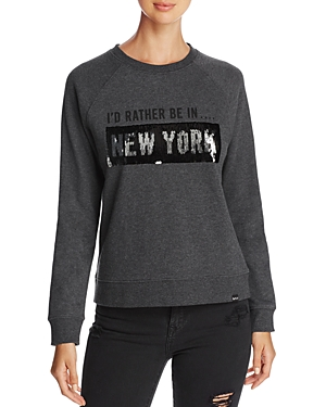 Marc New York Performance Sequin Graphic Sweatshirt