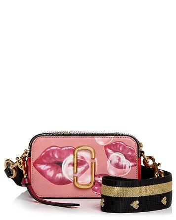 $MARC JACOBS Snapshot Printed Lips Color Block Leather Camera Bag - Bloomingdale's