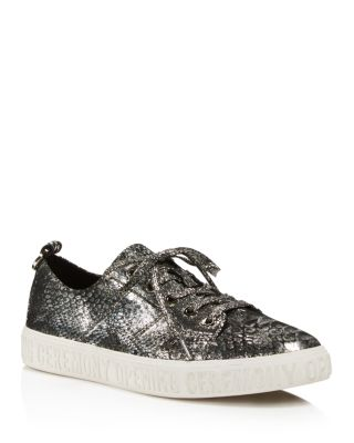 Opening Ceremony Woman Ring-embellished Metallic Leather Sneakers Size 36 2AQ3ua