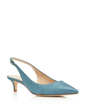 WOMEN'S LUDLOW SILK SLINGBACK PUMPS