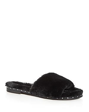 Kenneth Cole Women's Peggy Faux-Fur Slide Sandals