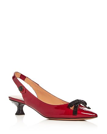 8be9608b119 MARC JACOBS Women s Abbey Patent Leather Slingback Pumps ...