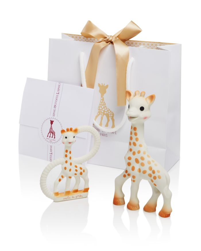 Sophie la Girafe Sophisticated Set with Sophie la Girafe & So Pure Teether - Ages 0+    Bloomingdale's