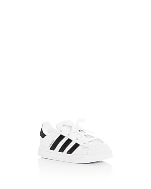 Adidas Unisex Superstar Leather & Velvet Lace Up Sneakers - Walker, Toddler