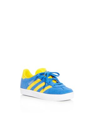 Adidas Unisex Gazelle Suede Lace Up Sneakers - Walker, Toddler