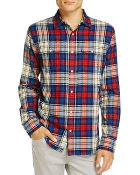 Flag & Anthem - Plaid Long Sleeve Flannel Regular Fit Button-Down Shirt - 100% Exclusive