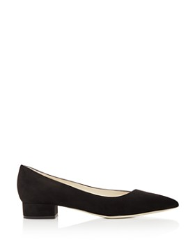 Giorgio Armani - Women's Suede Pointed Toe Low Heel Flats