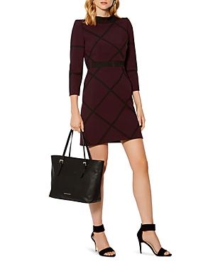 Karen Millen Windowpane Check-Pattern Mini Dress