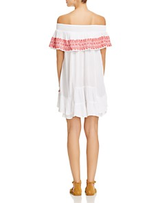 Muche et Muchette - Gavin Embroidered Off-the-Shoulder Ruffle Dress Swim Cover-Up
