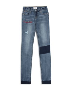 Hudson Girls' Everyday Rebel Distressed Skinny Jeans - Big Kid thumbnail