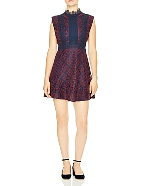 Sandro Peaches Lace Mini Dress