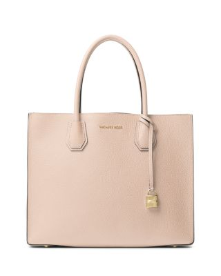 Michael Kors Mercer Large Convertible Tote, Soft Pink/Gold