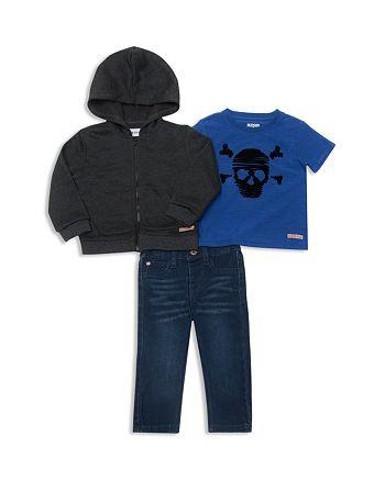 Hudson - Boys' Zip-Up Hoodie, Skull Tee & Straight-Leg Jeans Set - Little Kid