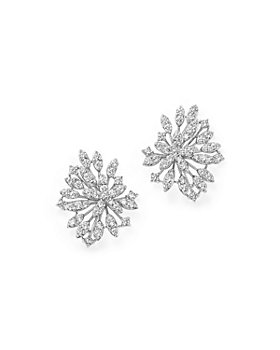 Bloomingdale's - Diamond Floral Statement Earrings in 14K White Gold, 2.20 ct. t.w. - 100% Exclusive