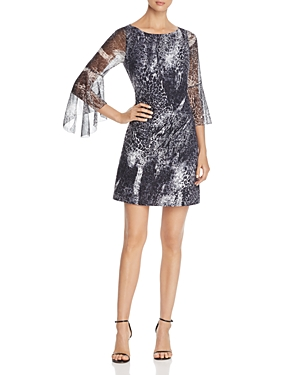 Elie Tahari Esmarella Animal-Print Mini Dress