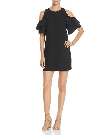 kate spade new york - Ruffle Cold ShoulderDress